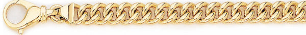 18k yellow gold chain, 14k yellow gold chain 7.4mm Miami Cuban Curb Link Bracelet