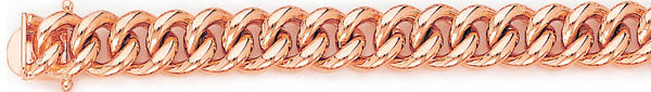14k rose gold, 18k pink gold chain 10.2mm Miami Cuban Curb Link Bracelet