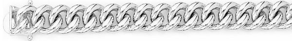 18k white gold chain, 14k white gold chain 10.2mm Miami Cuban Curb Link Bracelet
