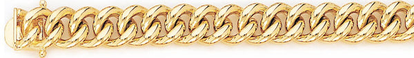 18k yellow gold chain, 14k yellow gold chain 10.2mm Miami Cuban Curb Link Bracelet
