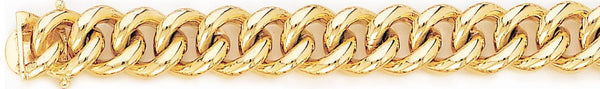 18k yellow gold chain, 14k yellow gold chain 12mm Miami Cuban Curb Link Bracelet