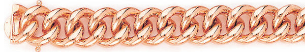 14k rose gold, 18k pink gold chain 13mm Miami Cuban Curb Link Bracelet