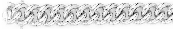 18k white gold chain, 14k white gold chain 13mm Miami Cuban Curb Link Bracelet