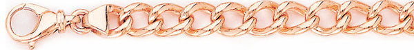 14k rose gold, 18k pink gold chain 9mm Open Miami Cuban Curb Link Bracelet