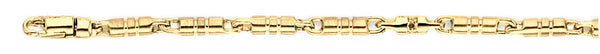 18k yellow gold chain, 14k yellow gold chain 3mm Barrel Link Bracelet