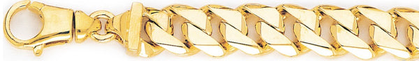 18k yellow gold chain, 14k yellow gold chain 12.6mm Switchblade Curb Link Bracelet