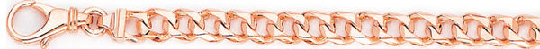14k rose gold, 18k pink gold chain 6.3mm Switchblade Curb Link Bracelet