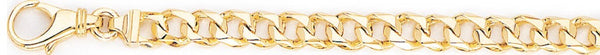 18k yellow gold chain, 14k yellow gold chain 6.3mm Switchblade Curb Link Bracelet