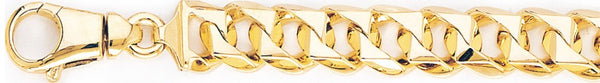 18k yellow gold chain, 14k yellow gold chain 11.2mm Switchblade Curb Link Bracelet