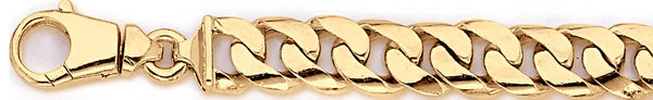 18k yellow gold chain, 14k yellow gold chain 11.2mm Curb Link Bracelet