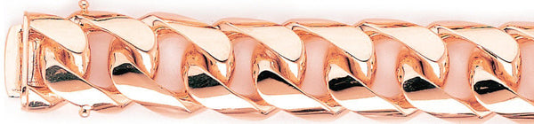 14k rose gold, 18k pink gold chain 18.7mm Curb Link Bracelet