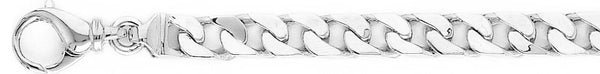 18k white gold chain, 14k white gold chain 7.4mm Traditional Curb Link Bracelet