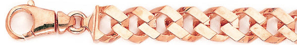 14k rose gold, 18k pink gold chain 11.6mm Flat-Top Curb Link Bracelet