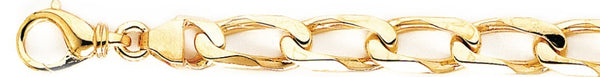 18k yellow gold chain, 14k yellow gold chain 8.9mm Thin Curb Link Bracelet