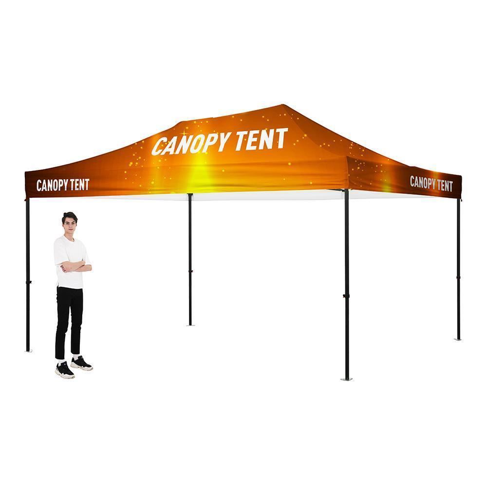 Premium Aluminum(Black) 15' Tent Kit (Full-Bleed Dye Sublimation)