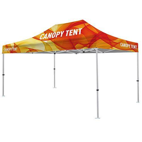 Premium Aluminum ( Silver) 15' Tent Kit (Full-Bleed Dye Sublimation)