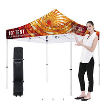 "Load image into Gallery viewer, Premium Aluminum 10' Tent Kit (Full-Bleed Dye Sublimation) 17"" Valance"