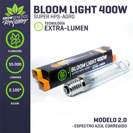 Ampolleta Sodio 400W Extra Lumen - Grow Genetics| Z1