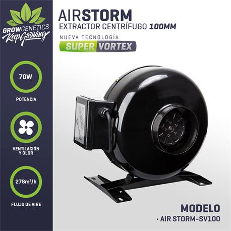 Extractor Centrifugo 100mm - Grow Genetics | Z1
