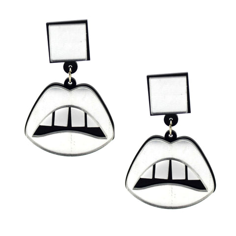 Lips Don't Lie Perspex Earrings
