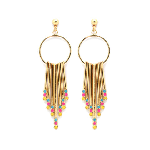 Cascade Tassel Earrings