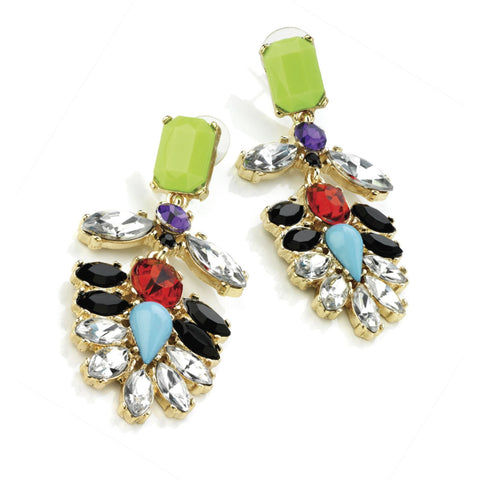 Celine Neon Flower Earrings