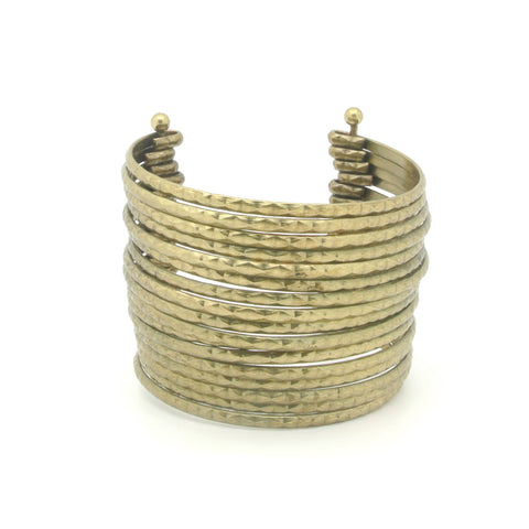 Gold Layered Cuff Bracelet