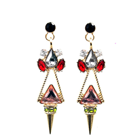 Geo Spike Drop Earrings