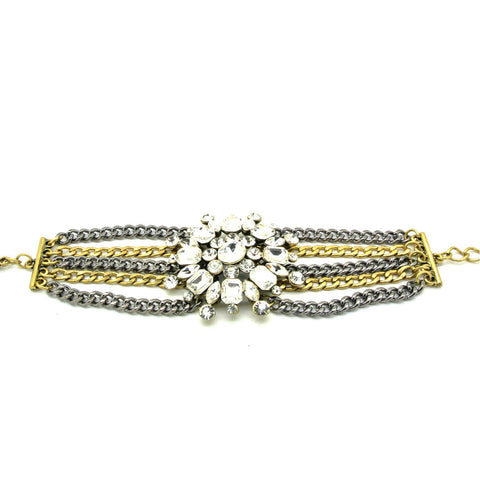 Glam Crystal Multi Chain Bracelet