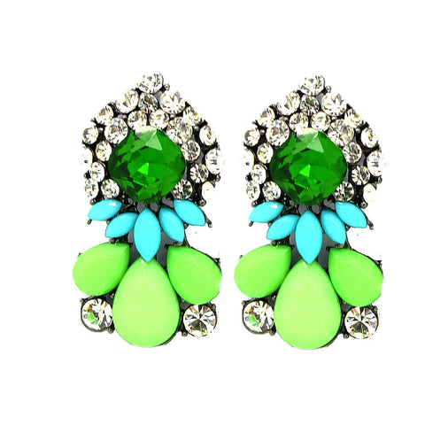 Green Statement Shourouk Earrings