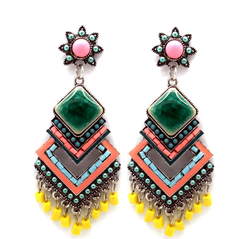 Multi-Colour Festival Earrings