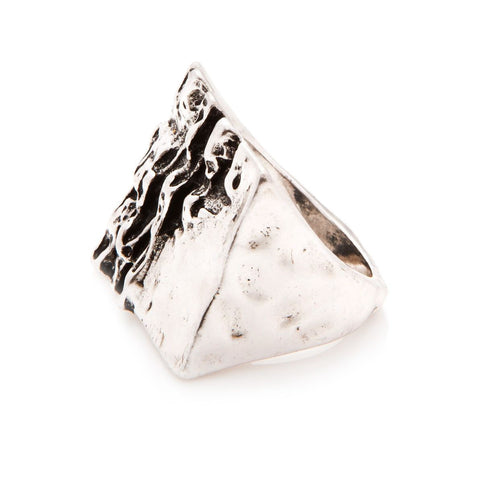 Design Six Silver Oak Ring