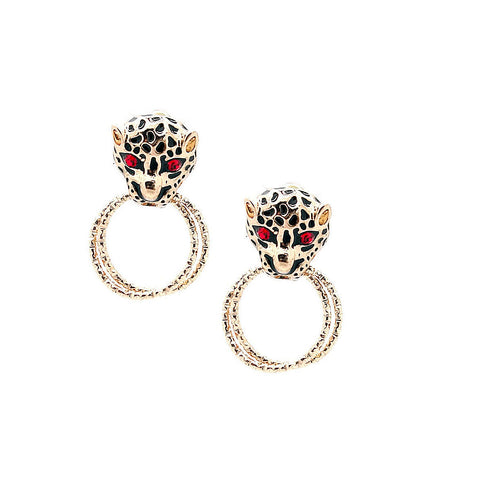 Panther Door Knocker Earrings