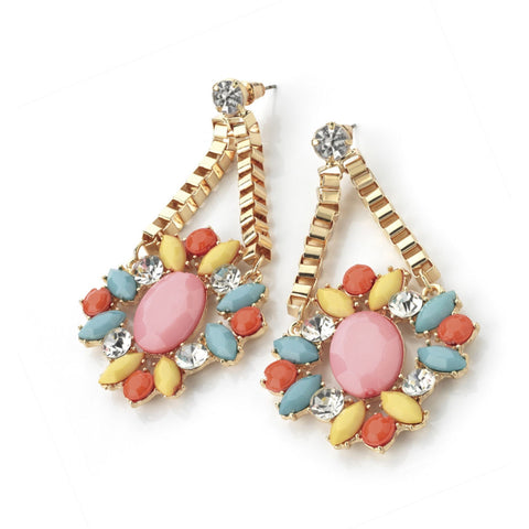 Pastel Gem Earrings