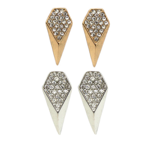 Pave Scalene Earrings