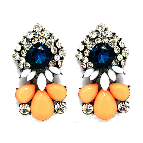 Peach Statement Shourouk Earrings