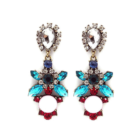 Pretty Flower Statement Earrings
