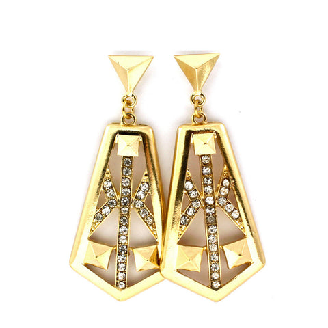 Geo Pyramid Earrings