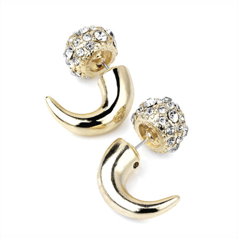 Sparkle Faux Expander Stud Earrings