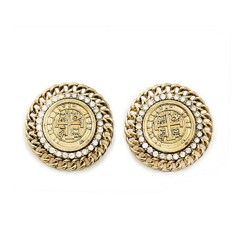 Gold Urban Glam Coin Earrings