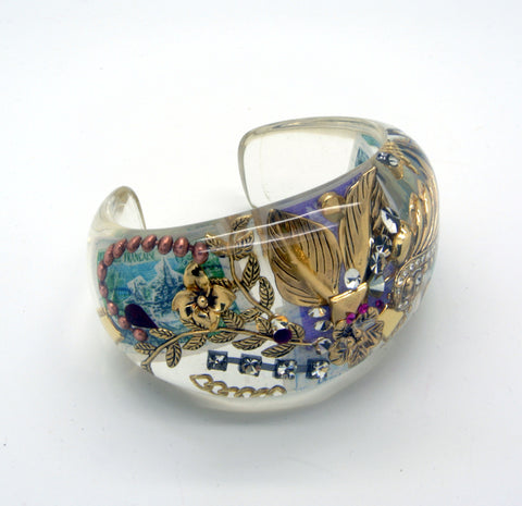 Gold Chunky Resin Bangle