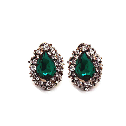 Vintage Crystal Teardrop Earrings