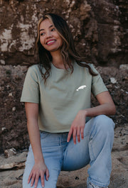 beluga womens cropped t-shirt