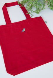 blue tit tote bag
