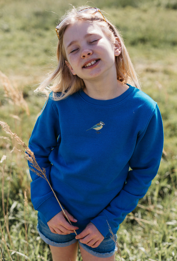 blue tit childrens sweatshirt