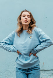 blue tit womens sweatshirt