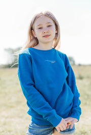 blue whale childrens sweatshirt