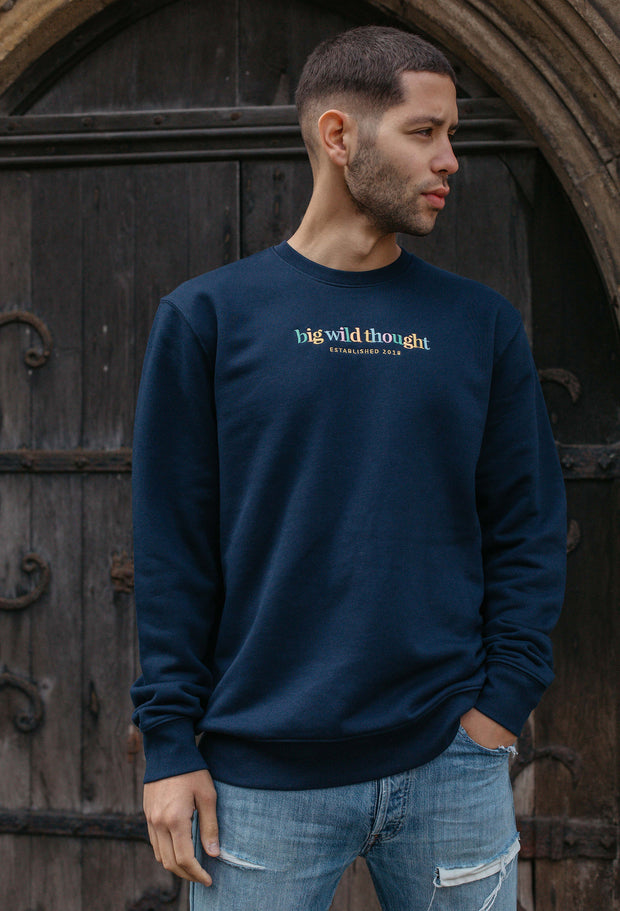 big wild thought est 2018 mens sweatshirt