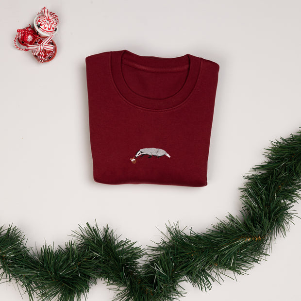 christmas badger unisex sweatshirt