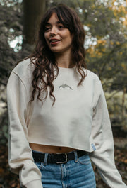 dolphin womens cropped sweatshirt